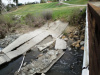 Concrete Weir Structure Collapse